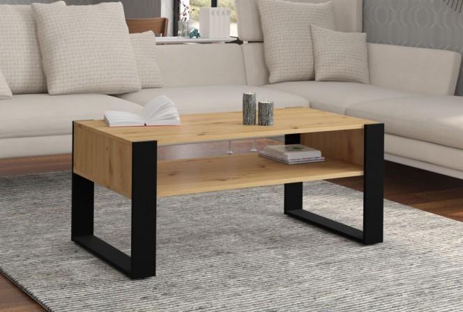 DUKE – soffbord ek/svart