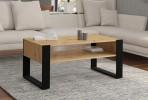 COFFEE TABLE NUKA F 110 CM ARTISAN OAK / BLACK