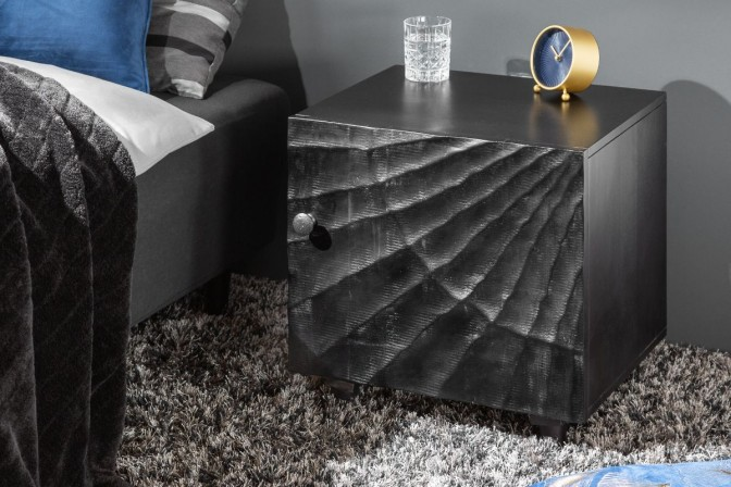 Bedside table Scorpion 50cm black mango