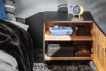 Bedside table Scorpion 50cm black mango