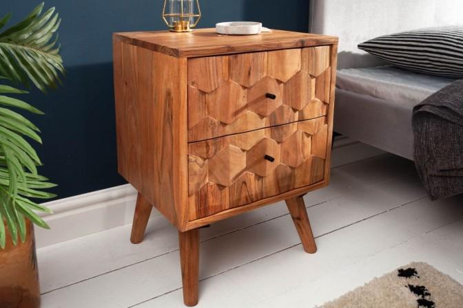 Bedside table Mystic 40cm Acacia