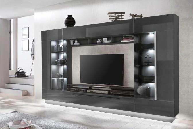 Concord SENSA - 275cm TV-möbel med förvaring, GRÅ