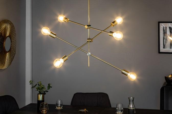 Suspension lamp variation gold