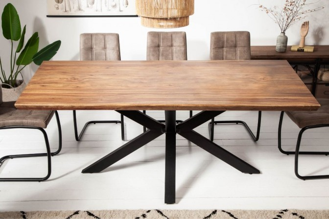 FIOLITO - Handgjort matbord 200cm i sheshamträ natur