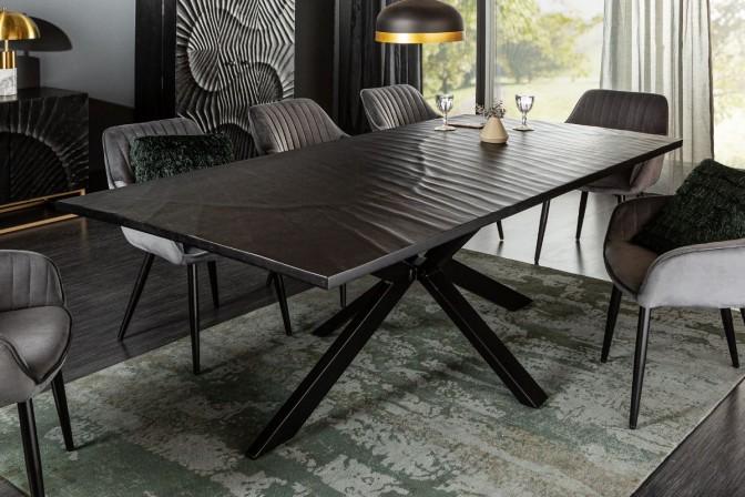 RENFE - 200cm matbord i svart