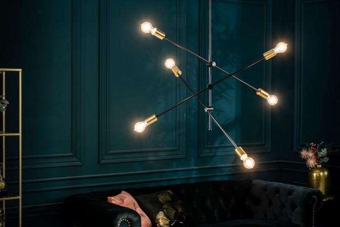 Suspension lamp variation black gold