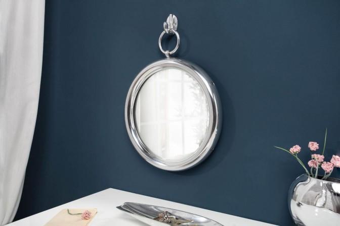 Mirror portrait 30cm round silver