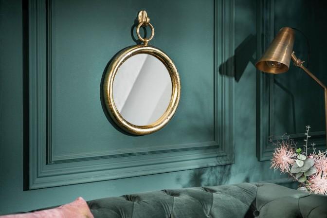 Mirror portrait 30cm round gold