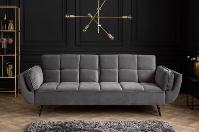 Sofa bed Boutique 215cm gray velvet