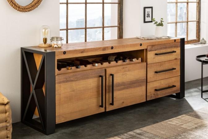 Sideboard Thor 195cm natural pine wood