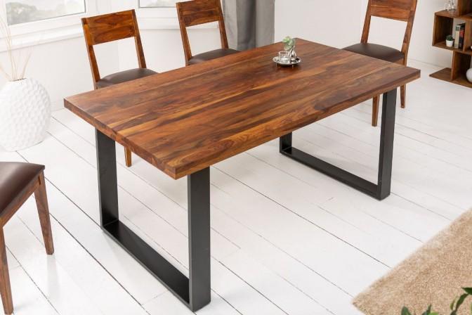 Dining table Iron Craft II 180cm Sheesham brown 45mm
