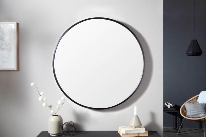 Wall mirror Noemi 80cm round black