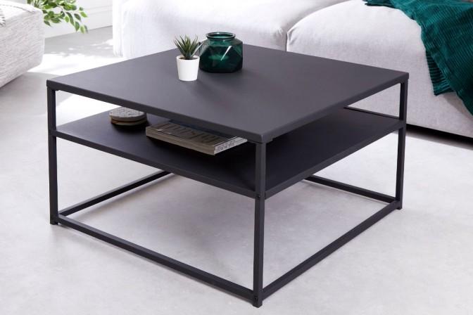 Coffee table Dura Steel 70cm black metal