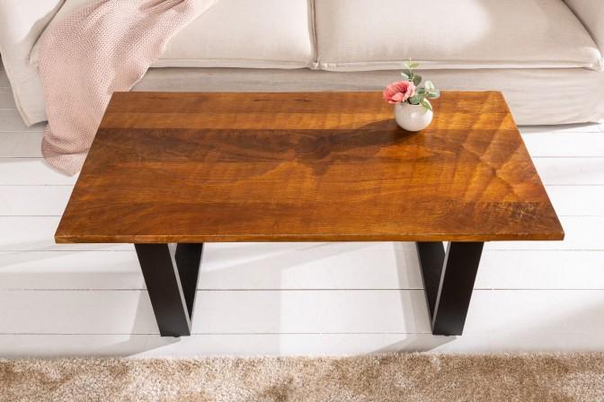 RENFE - 110 cm soffbord i brunt mangoträ