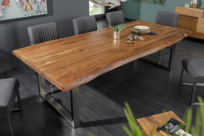 Dining table Mammut 300cm acacia honey 60mm PLATTE