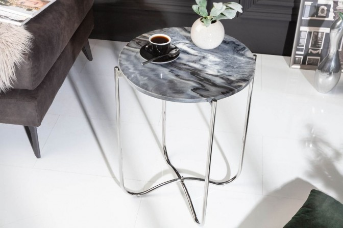 Side table Noble III gray marble