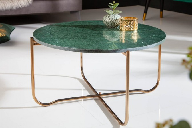Coffee table Noble 62cm marble green gold