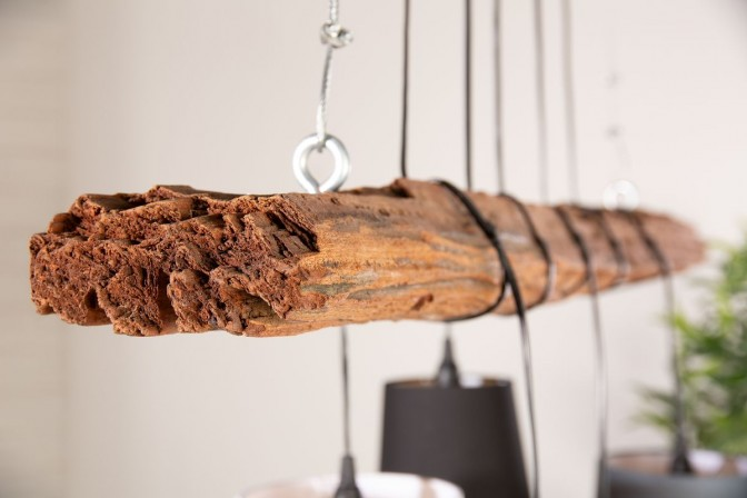 Suspension lamp Levels driftwood frame