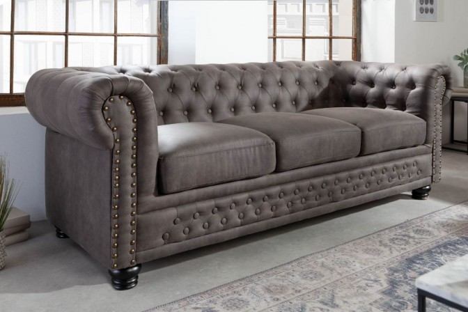 Sofa Chesterfield II 3 seater 200cm antique gray