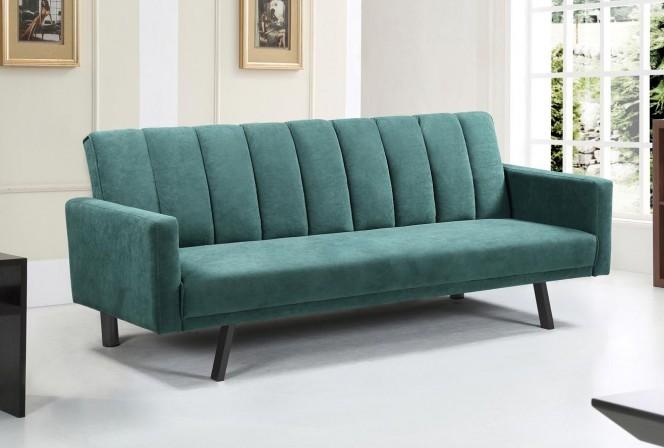 STEVEN - 192 CM soffa i mörkgrönt