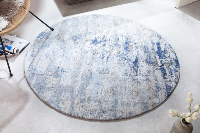 Carpet Modern Art 150cm round blue beige