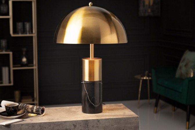 Table lamp Burlesque gold marble black
