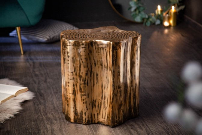 Side table Organic Orient gold