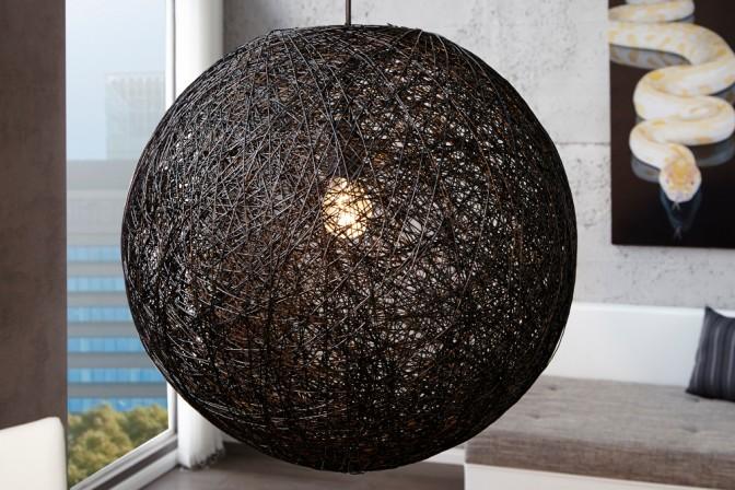 Hängeleuchte Cocoon schwarz 60cm