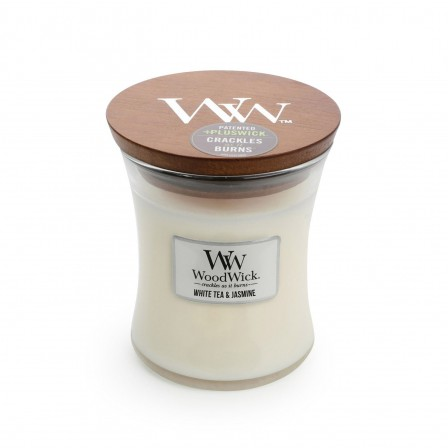 WoodWick Medium - White Tea & Jasmine
