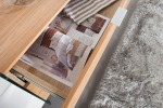 Sideboard Onyx 160cm weiss Glas-Eiche