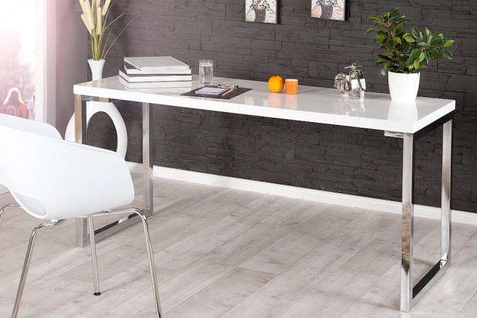 Schreibtisch White Desk weiss 140x60cm