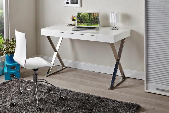 TROPEZ - 120cm skrivbord i vitt