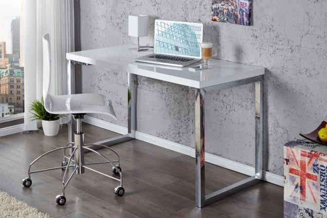 DESCO - 120x60cm vitt skrivbord