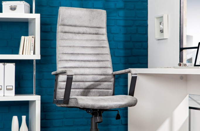 Bürostuhl Lazio High grau vintage