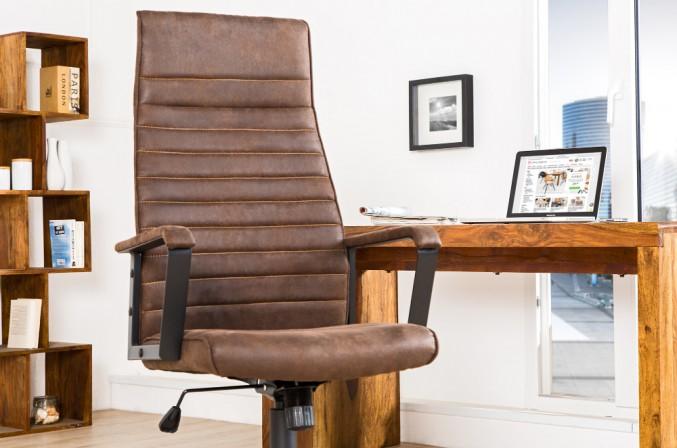 Bürostuhl Lazio High braun vintage