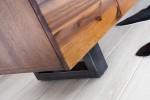 SAMOA - 170cm sidobord i antracitgrått och trä