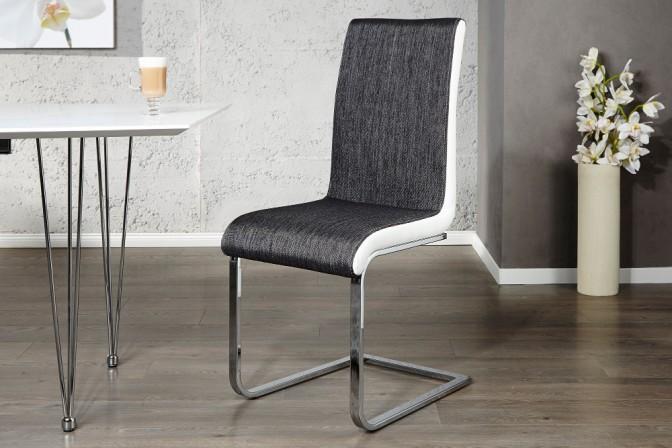DOWNTOWN II - stol i antracitgrått och vitt