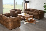 Sofa Chesterfield 2er braun Antik Look