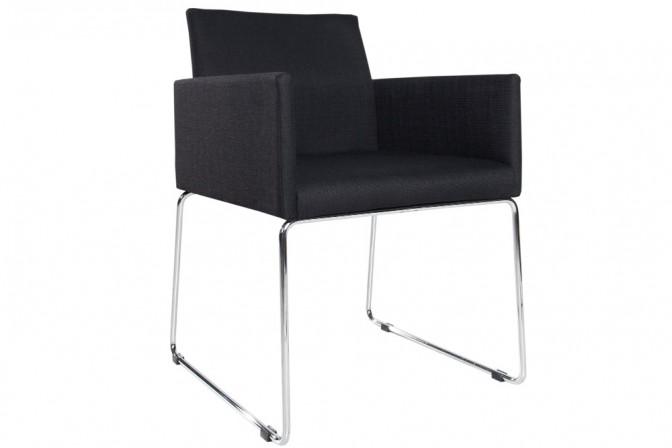 Stuhl Livorno Struktur schwarz anthrazit