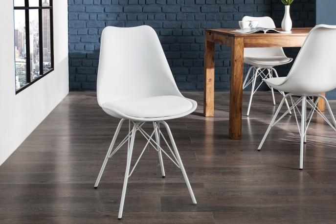 NORDIC klassisk nordisk designstol, robusta ben i lackad metall