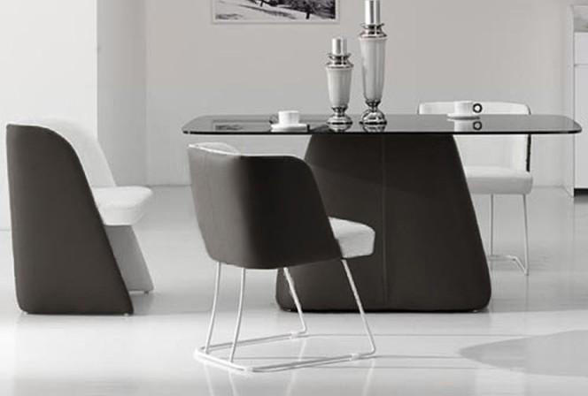 CLOUD RL - matbord i ECO-läder & härdat glas