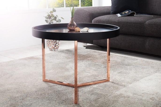 TYPUS funktionellt och mångsidigt soffbord i matt svart och koppar