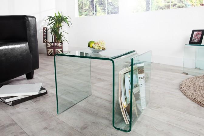 OPAQUE - bord i glas 50 cm