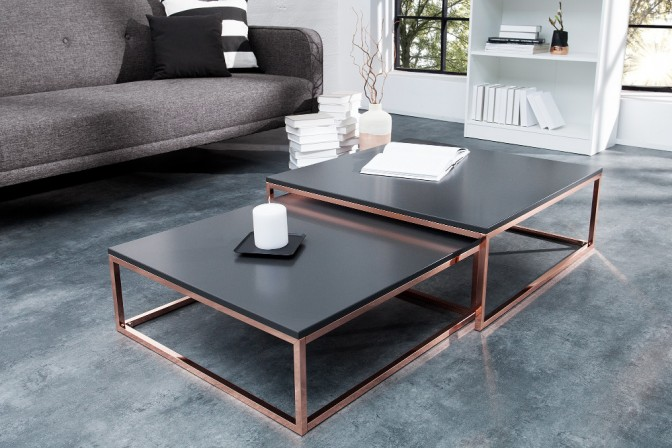 TRIODOS - set med två grå bord