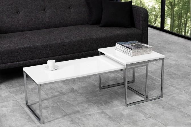 NOBILE - set med soffbord i vitt