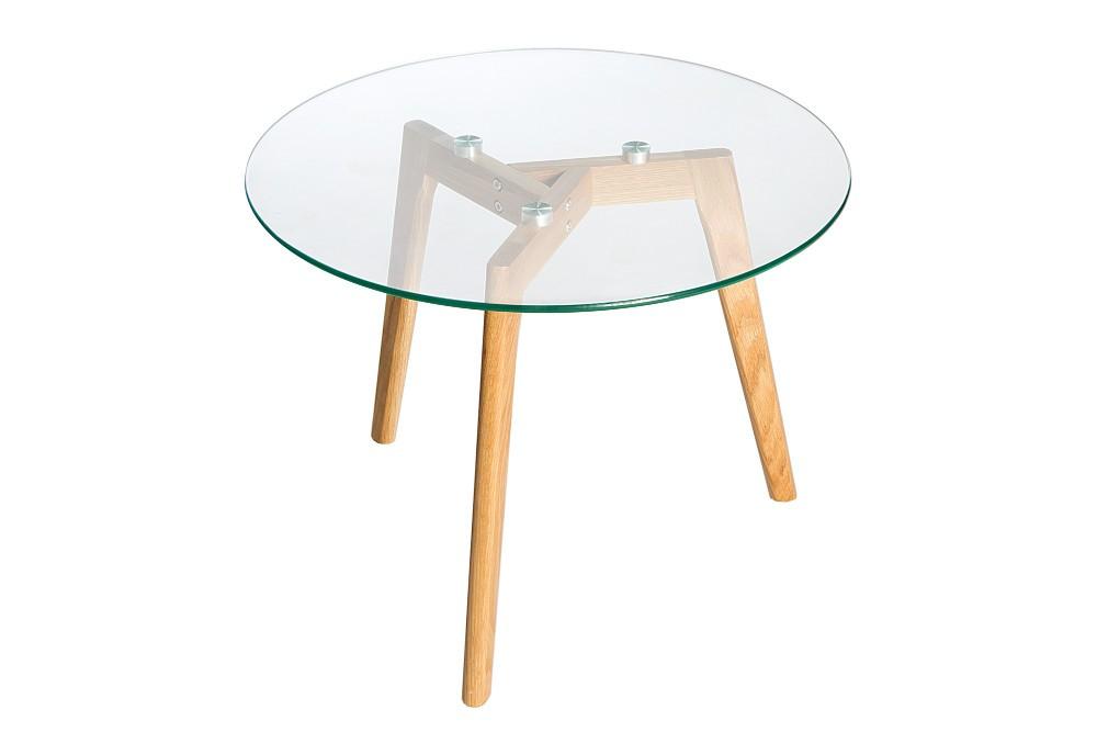 NORDIC OAK praktiskt soffbord och sidobord i trä och glas